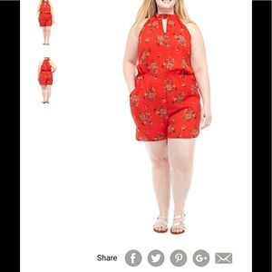 Plus sized Romper